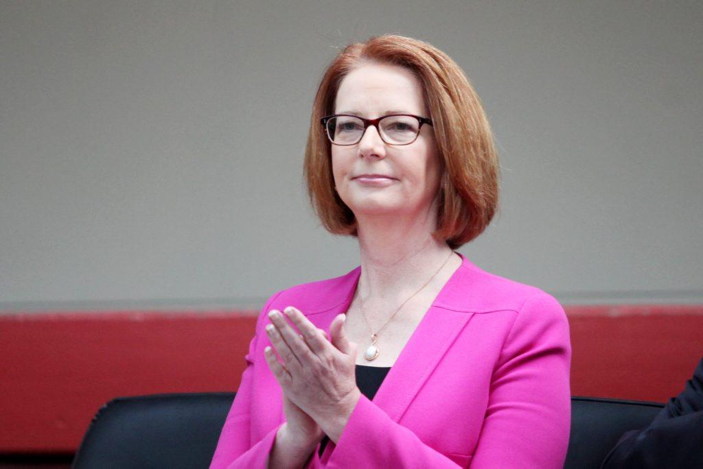 Prime Minister Julia Gillard was the target of an LNP fundraiser menu.
