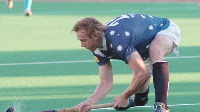 Peter Duncan pictured in June preparing to fire a shot at goal for his Coraki side.