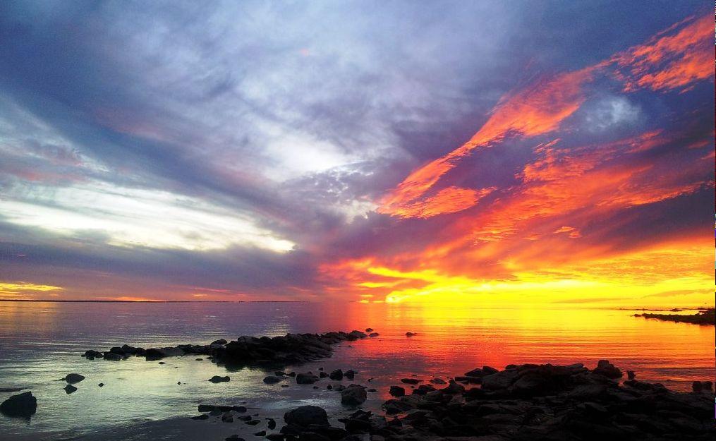 Sunset at Gatakers Bay.
