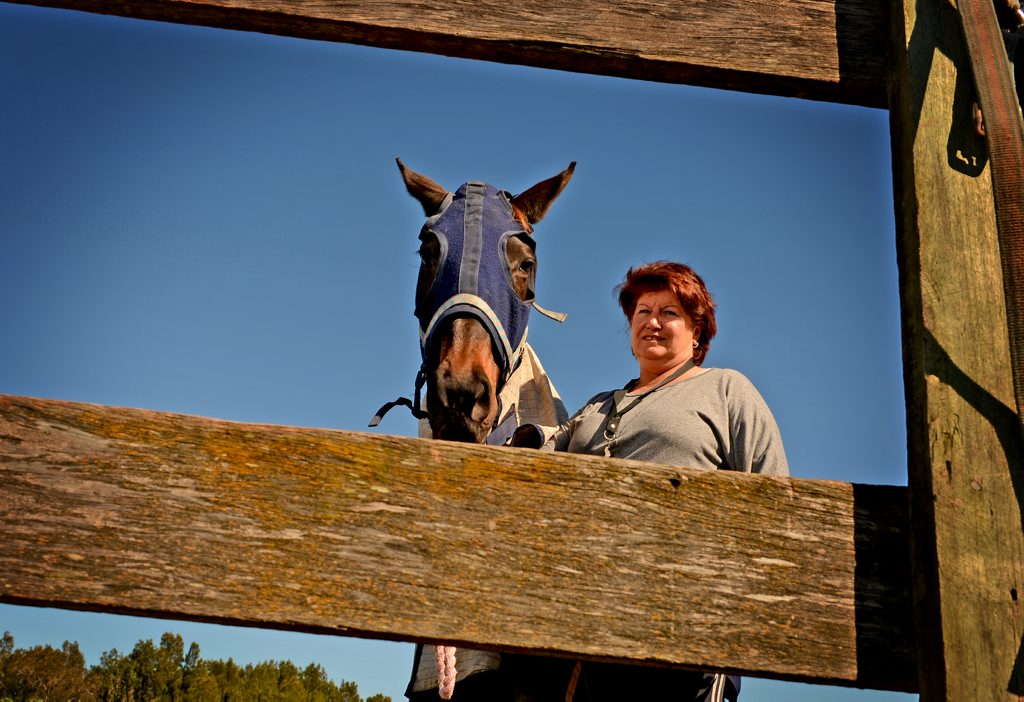 Tweed Pony Club president Lindy Smith with Elle the horse.