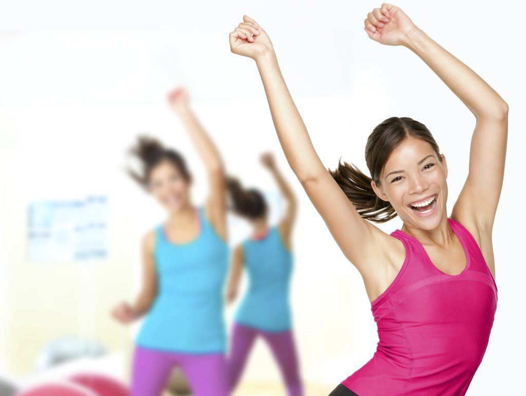 Zumba is a great way to keep fit in winter.