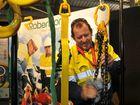 Surat Basin Energy and Mining Expo exhibitor Liam McCaffrey representing Toowoomba-based company Robertsons.