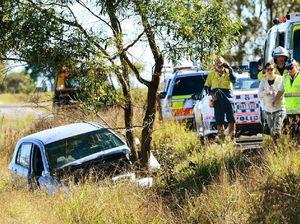 Woman's lucky escape as car crashes into tree