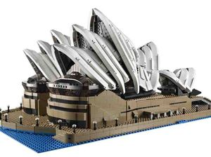 Sydney Opera House recreated as supersized LEGO model