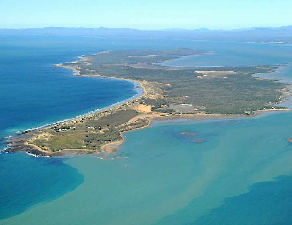 LAND DISPUTE: An aerial view of Facing Island, in Gladstone harbour.