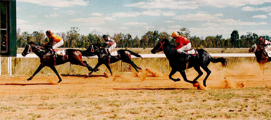 GHOSTLY GALLOPERS: King Bermuda winning the Primac Improver Handicap over 1000m on April 16, 1988. The last race meet held at Alpha's Fordham Park track was in 2002.