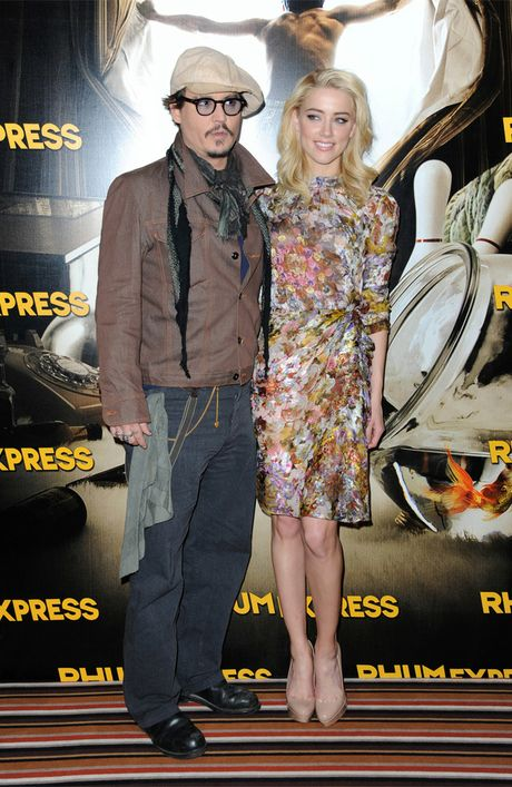 Johnny Depp and girlfriend Amber Heard.