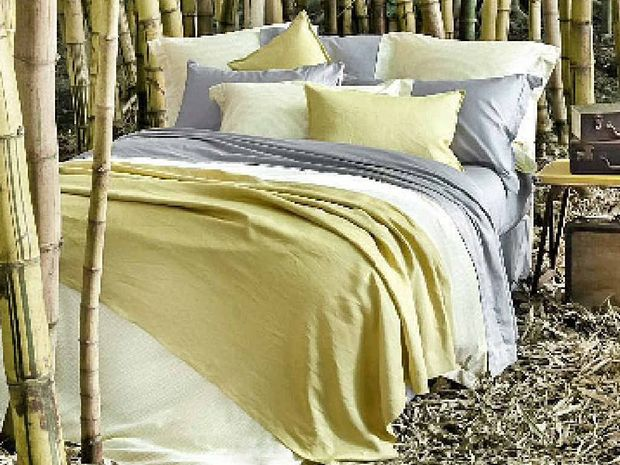 Sheets on the Line, 375 thread count certified 100% organic cotton, single set, $149.95, king set, $199.95. Each set includes quilt cover and four pillow cases with sham detail. Available at: sheetsontheline.com.au