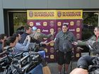 Mal Meninga fronts the press over news he was kicked out of a Brisbane bar.