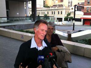 Eric Wilson speaks to media outside Brisbane court
