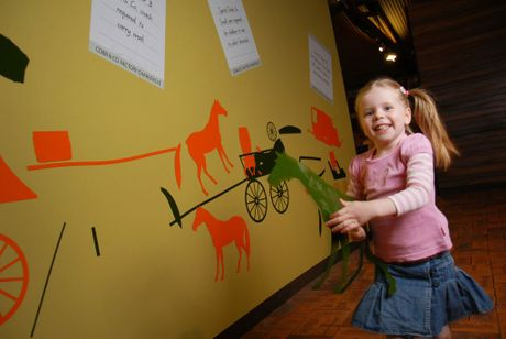 Isabelle Edwards enjoys her time at Cobb and Co Museum.