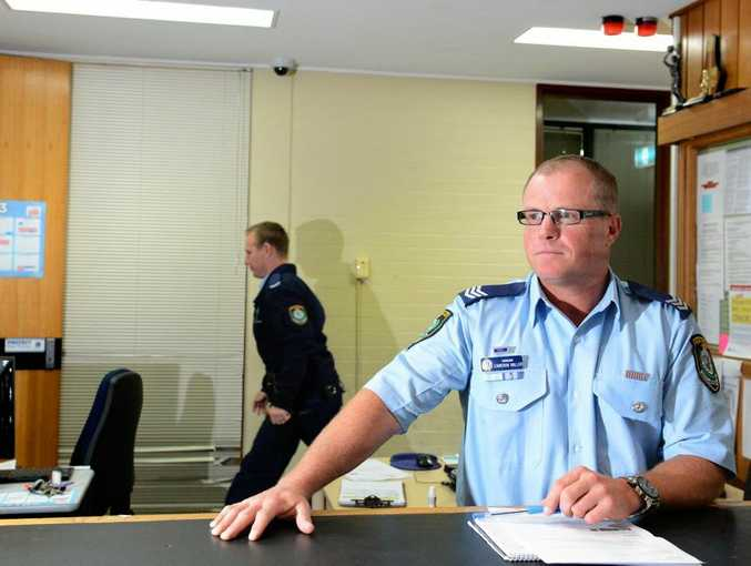Sergeant Cameron Miller in the Tweed Police Station.