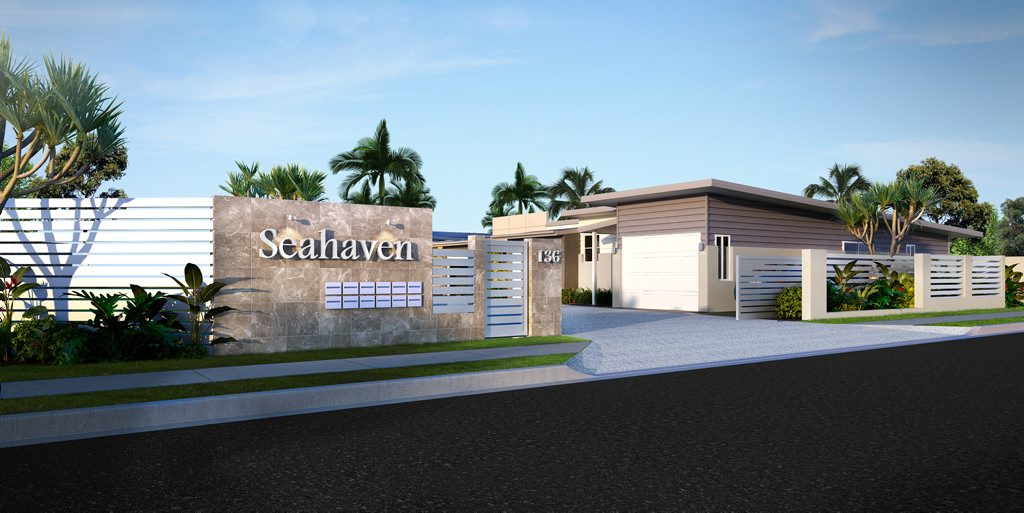 An artist's impression of what the Seahaven development on the Esplanade will look like.