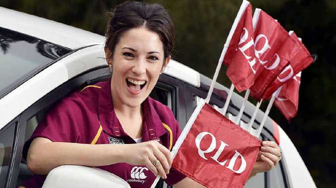 FREE FLAG: Grab two maroon Queensland car flags in a special State of Origin offer in Monday's Queensland Times.