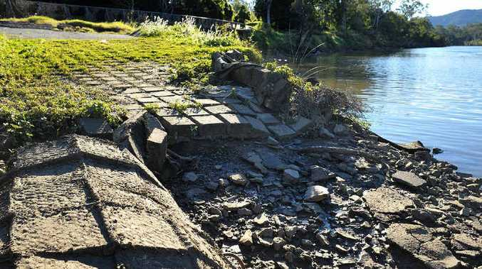 JOB PLANNED: The former boat ramp at Riverside Park, Karalee, for which plans are meant to deliver a Christmas refurbishment.