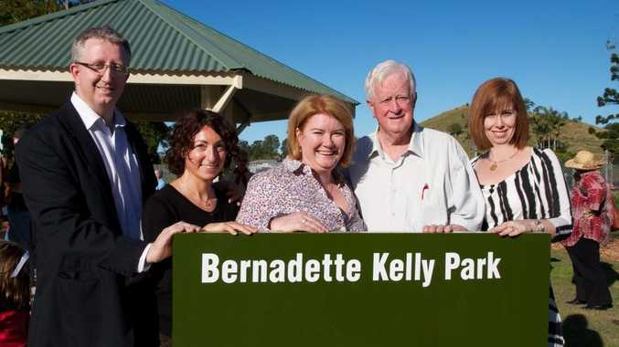 Bernadette Kelly's Son Peter, and his wife Jenny and from Sydney,Mrs Kelly's daughters Linda and Judith with their dad Leo Kelly.