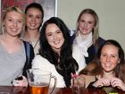 Nitelife- Out and About: Ree Hartwig, Trish Liesiolka, Breanna Kajewski, Emma Goodwin and Tani Proellocks at Bar 839 at the Southern Hotel. Photo Allan Scurr / The Chronicle
