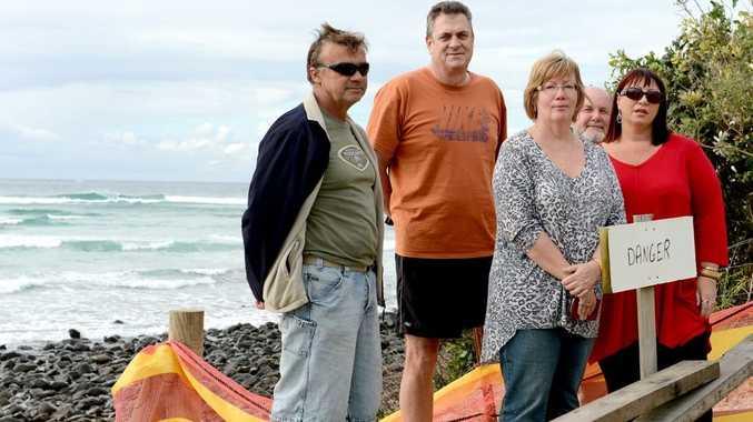 Rex Budd, Geoff Magoffin, Alan Wise , Nicki Chubb and Robyn Wonson are concerned. Photo: Blainey Woodham / Daily News