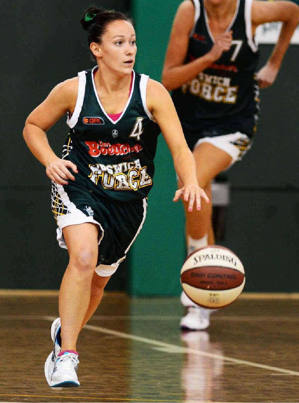 WORKING HARD: Regular Ipswich Force player Courtney Taylor.