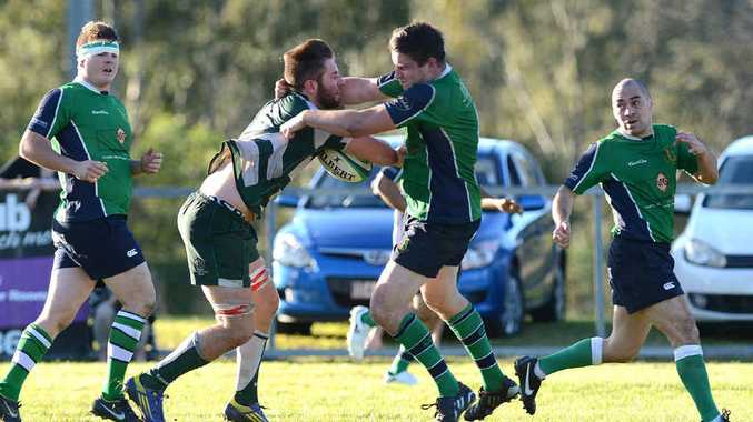TRAIN WRECK: A disappointing Ipswich Rangers side went down 25-24 against Brisbane Irish in their Barber Cup clash at Woodend on Saturday.