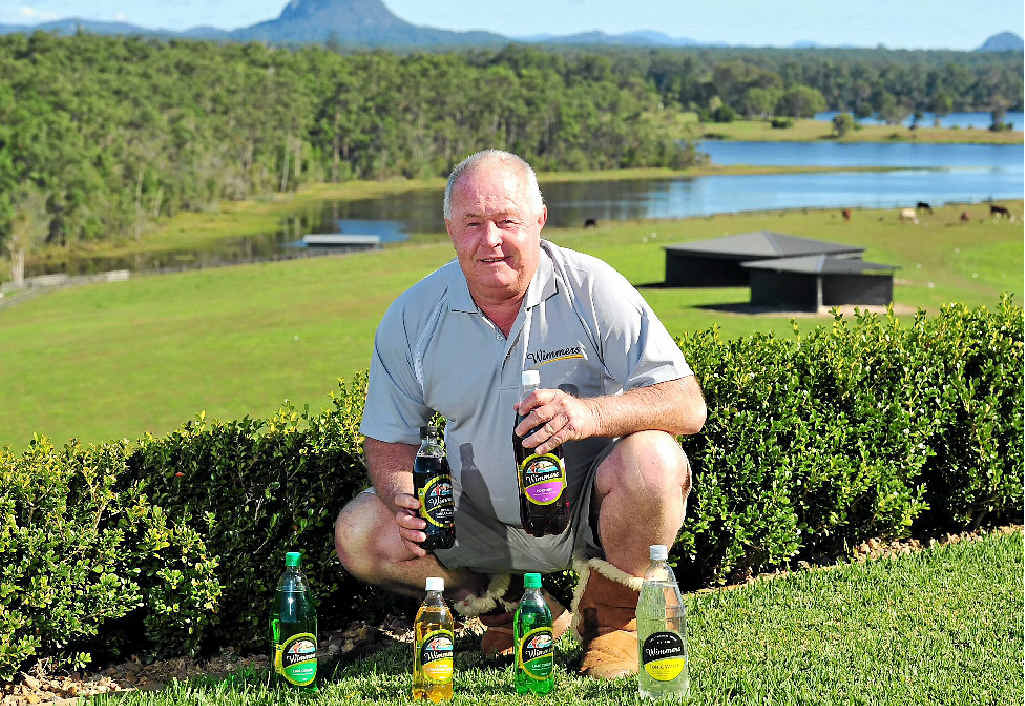 BRIGHT FUTURE: Wimmers saviour Peter Lavin at home at his horse stud in Cooroy with some of his drinks.