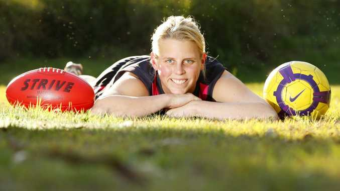 Futsal and Aussie Rules talent Kate Lutkins.
