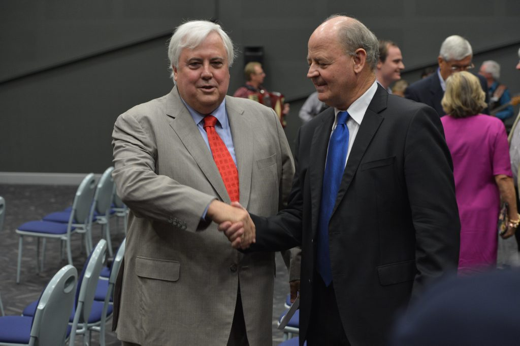 Clive Palmer and Bill Schoch in 2013.