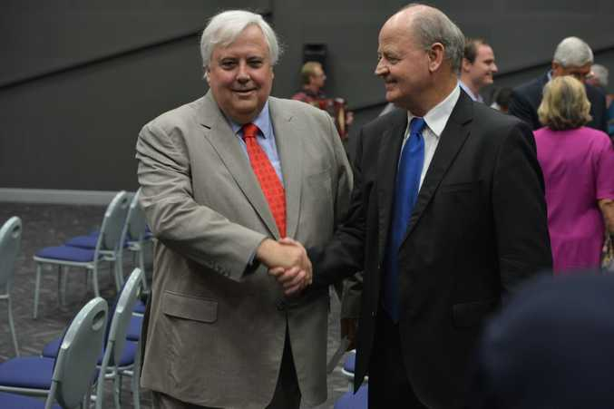 Clive Palmer and Bill Schoch during happier days.