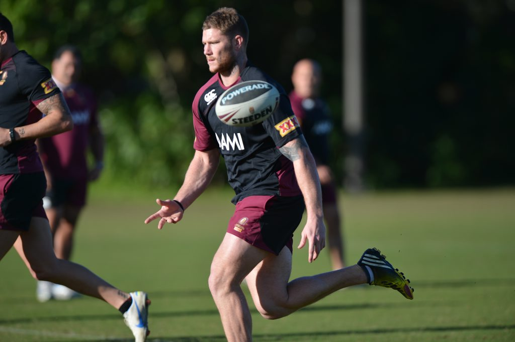 Chris McQueen trains for State of Origin at Coolum.