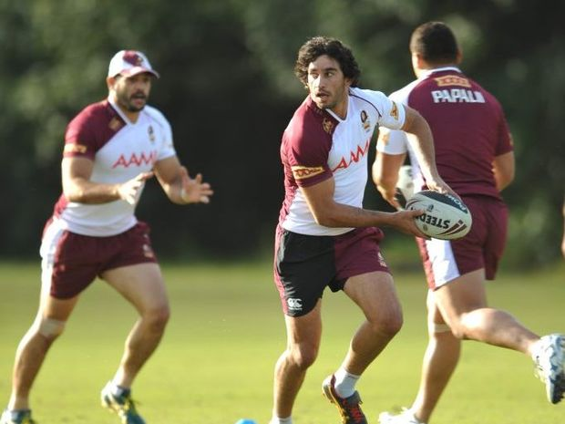 Johnathan Thurston at the Maroons training session at Palmer Coolum Resort.