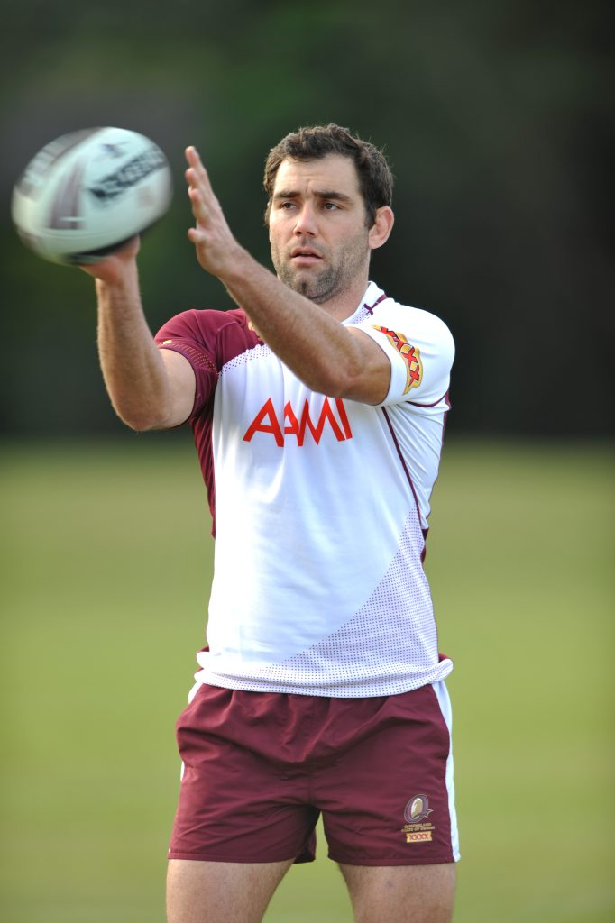 Cameron Smith at the Maroons training session at Palmer Coolum Resort.