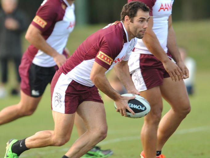 Cameron Smith at  A Maroons training session at Palmer Coolum Resort.