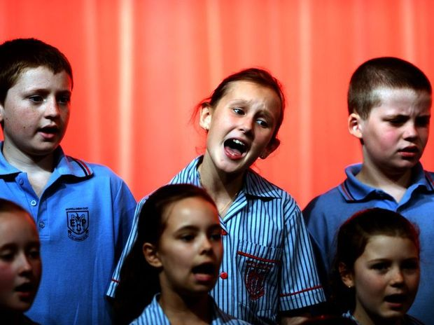 Murwillumbah festival of performing arts. Junior primary school choir -No actions- years 3 and 4. Murwillumbah East primary school.