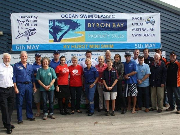 WHALES: Donation Day for the Byron Bay Property Sales Ocean Swim Classic and the Ky Hurst Mini-swim.
