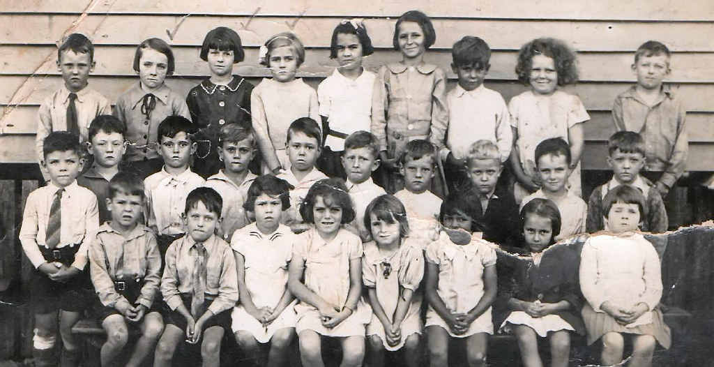 Year 1 students of Mackay Central State School circa 1939.