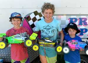 Harrison Craig, Ethan Byrnes and Juris Vanags were some of the youngest competitors racing their cars at Bakers Creek.