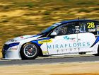 FIRST FOR MACKAY: Morgan Haber's V8 Supercar will be an unusual sight on Mackay's roads this Saturday in the lead-up to the Townsville race.