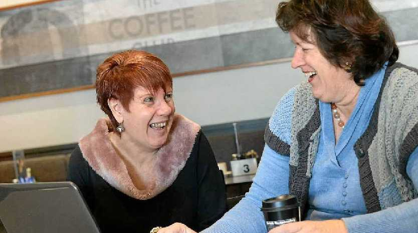 Kerry Perrie (left) and Astrid Allison have attracted a global following with their over 50s Facebook page.