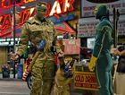 Jim Carrey, left, and Aaron Taylor-Johnson in a scene from the movie Kick-Ass 2.