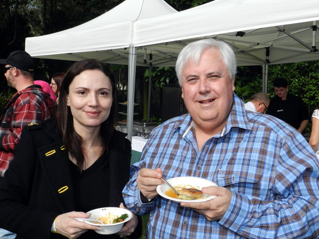 Clive Palmer with his wife Anna in 2013.