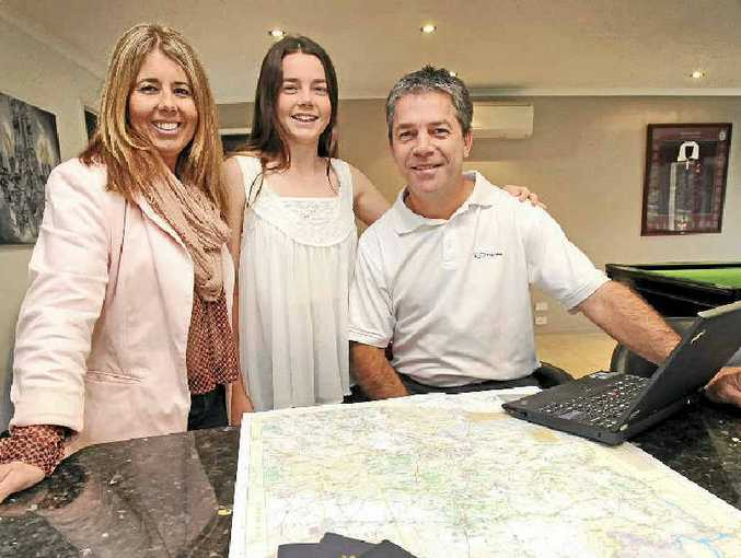 ENGINEERING A CHANGE: Shane Gesch of Cardno will be moving to Arizona with his wife Kerry and daughter Tayla later this week.