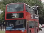 Magician levitates on side of London bus