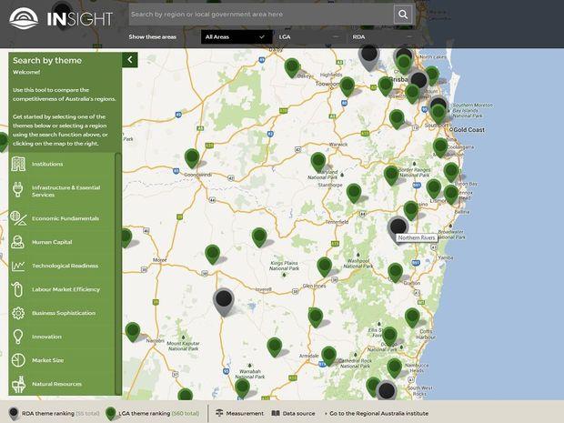Regional Australia Institute's interactive map