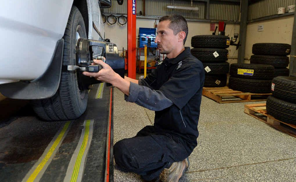 WISE MECHANIC: Paul Barfield, of AutoCorner Mackay, often encounters cars that have been deliberately damaged through hooning.