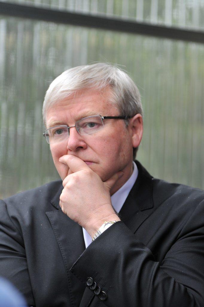 Returned Prime Minister Kevin Rudd
