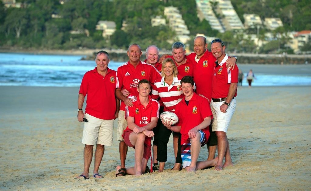 British and Irish Lions supporters at Noosa.