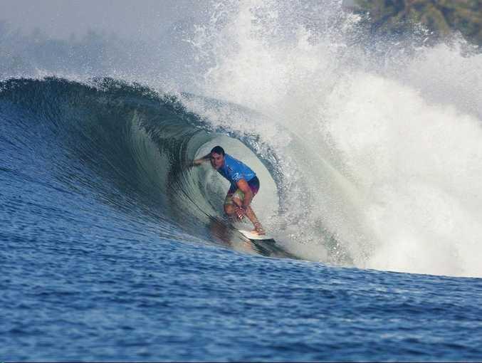 Joel Parkinson in the Tube at Keramis, Bali. Photo: Kirstin Scholtz/ASP