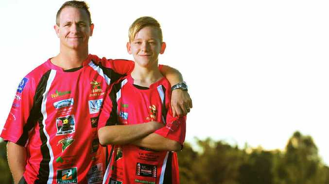 FAMILY TRADITION: Greg Martin and his son Jack have both represented the Ipswich under-12 rugby league team in the Zone 4 carnival.