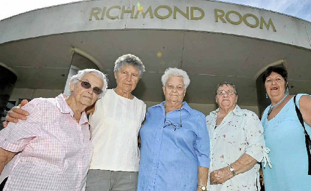 HOPEFUL: Members of the Lighthouse Day Club, from left, Dorothy Fahey, Fay Morris, Mary O'Brien, Dorothy Campbell, and Lorraine Fox, are upset that they have been asked to vacate the Richmond Room.