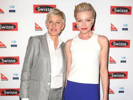 Ellen DeGeneres and wife Portia de Rossi.